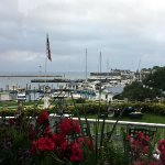 Our dinner view from the 1852 Grill Room on Mackinac Island!