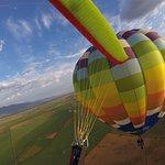 Flying around the Bigfoot balloon!