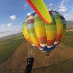 Morning sunshine on the balloon.