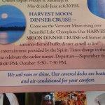 """""""We Sail Rain Or Shine"""" listing in brochure"""