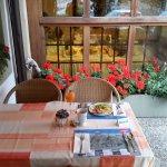 Verandah Breakfast very relaxing & calming, excellent service.