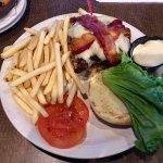 Half Pound Mushroom Bacon Burger