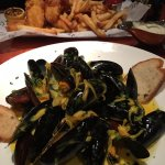 The mussels are delicious. The portion is so big that just this would have made a great dinner.