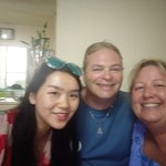 Fun time learning to make dumplings in a local families home. Here with our wonderful guide Bett