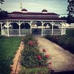Center gazebo in the front of the Lodge