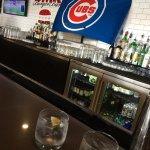 Friendly spacious bar.