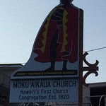 Sign post out side Moku'aikaua Church
