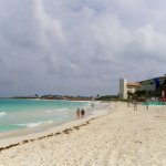Beach to the right of the resort, showing Westin Cancun Resort and Club Med.
