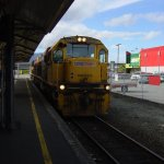Train arriving in Greymouth Station