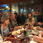 Enjoying the food at Gracie's Sea Hag