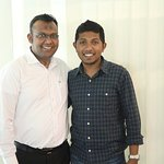 With Thuwan who gave us a good food and beverage service