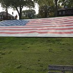 American flag in the park