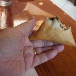 Sambusa - partly eaten