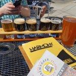Harmony Flights and beer