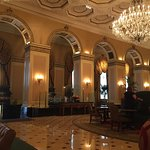 7th floor room at the Omni William Penn as well as two shots of the amazing lobby.