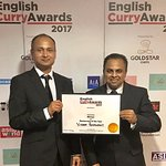 Yorkshire Restaurant of the Year 2017 at the English Curry Awards