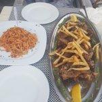 Kilo of Lamb Chops along with Garlic Pasta