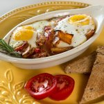 A delicious breakfast included daily at Cedar Crest Lodge