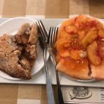 Bagged apple pie and peach pie
