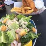 Shrimp Caesar Salad and Fish & Chips!