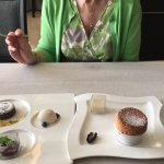 French fare at Grand Velas - yes, that's a grand marnier soufflé!