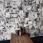 The bar wall