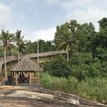 Bamboo hut and the way to the top