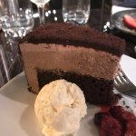 Chocolate Mousse and Mud Cake - delicious