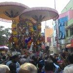 Adikara Nandhi festival on the third day of 10 days during Tamil month Panguni.