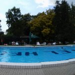 Panorama photo of swimming pool