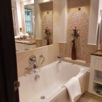 well arranged bath