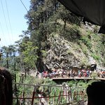 Nearing the Temple in a zig zag road