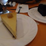 Durian cheesecake and so so choco cake