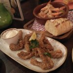 Gambas & Calamares(fried squid - front plate)