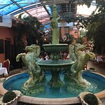 fountain in the restaurant