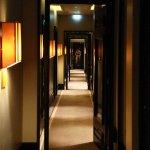 Art Deco hallway to rooms