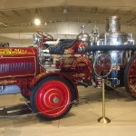A steam powered Fire Pumper, just one of many special vehicles on exhibit.