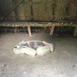 Fire pit inside wigwam