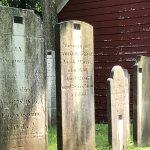 Grave stones at Walloon Church boneyard