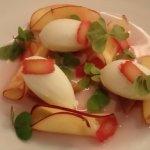 le dessert : Rhubarbe et nectarine