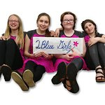 2 Blue Girlz clothing brand designed by girls, made for girls by My Ol' Blues.