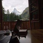 Blick vom Büro auf das Matterhorn