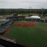 View of Cal Sr. field from room.