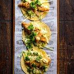 Fish Tacos - Beer battered hake, remoulade, beeracha crema and tortillas!