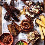 Sharing is caring! Enjoy some meaty delights from the smoker!