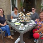 Champagne afternoon tea for my Hen Spa Day with besties and my daughter