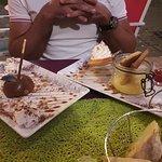 double ration de dessert :-) moelleux châtaigne et tarte citron