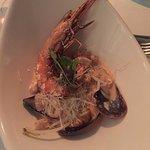 Grilled prawn and calamari/line fish