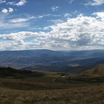 View from the top of the mountain, elevation 10,000 feet