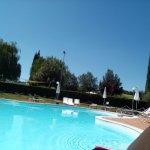 La bella area piscina